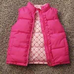 Girls Faded Glory Reversible Puffer Vest 5T